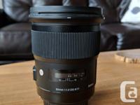 Selling my Sigma 50mm f/1.4 DG Art lens for Canon.