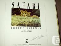 SIGNED EDITION OF ROBERT BATEMAN'S BOOK ''SAFARI ''