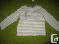 Ivory and Gold Stripes Children's Spot Long sleeve
