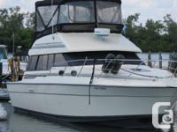 This is a 1989 Silverton 34C, 40' LOA. Twin 454