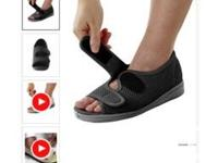 BRAND NEW NEVER OPENED Size 7 Wide, Black Sandals. Paid