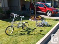 I have 2 Aluminum Easy Cruiser folding bikes for sale.