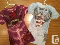 Purple or Blue Sinful T-Shirts  - Small $20  Long Black