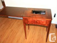 Singer Sewing machine and table from 1953, motor and