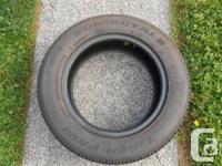 Single 195/65 R15 Uniroyal Ice & Snow Tire 95% tread,