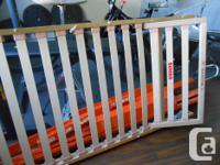European size bed frame and slats with repositionable