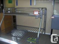 Single over Double Bunk Beds with built in ladders and