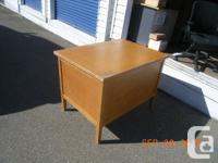 Single Pedestal Oak Desk - $15 as is - missing one