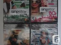 Selling four brand new SingStar games     Condition:
