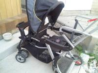 Selling in good condition a Sit & Stand Double Stroller