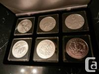 I have sets of the silver Canadian Wildlife one ounce