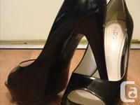 "Gently Used Heels. Black Aldo - Size 10 5"" heel with 1"""