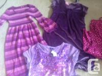 Size 14 Purple Hype dress (Nordstrom), 4 gap dresses, 1