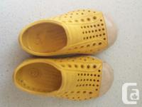 Good condition. Size C6 yellow toddler native shoes.
