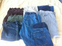 Dresses - 3 (1 maxi) Pj's - 1 pair Sweaters - 1 shirts