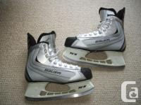 Available for sale; Bauer '22' hockey skates. Rigid