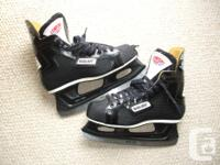 Available; Bauer Personalized hockey skates. Stiff boot