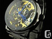 GadgetPlus. ca. .  Skeleton Watch Golden Gears