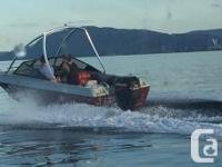 Amazing little boat 17' with strong 75 hp merc two