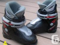 Four pairs of small-size youth alpine ski boots for