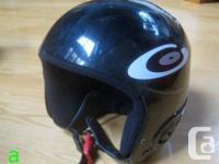 Two youth 56cm full-shell alpine ski helmets for sale