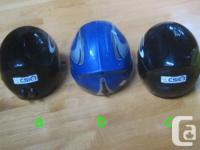 Two Gabel 56cm youth full-shell alpine ski helmets for