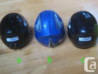 Two Gabel 56cm youth full-shell alpine ski helmets for