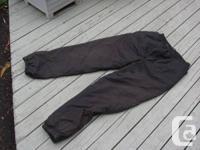 White Sierra ski pants, black, fleece-lined, medium