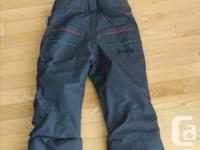 Excellent quality girls Firefly ski snow pants in good