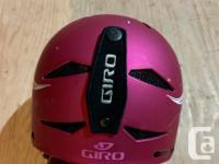 Two identical Giro Recruit 2 ski/snowboard helmets, in