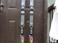 Blizzard skis with binding for sale.  Used for a few