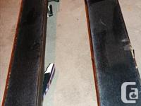 One pair of skis (6ft length) in good condition and one