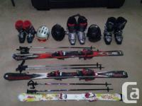 2 adult skis with bindings - Rossignol. 1 youngster
