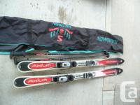 Rossignol Axium 160 skis. Rossignol Axitec 100s