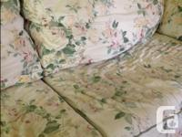Floral, good condition, very comfortable. Sturdy and