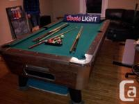 This is a gorgeous barely used 8x4 pool table with 7/8