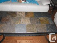 Beautiful slate coffee table for sale with matching end