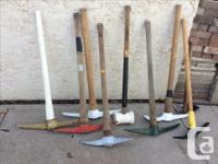 I have some sledgehammers for sale. I have a 4 lb one