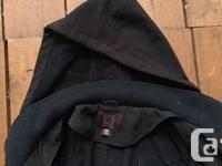 A really reliable black jacket that is water resistant