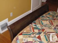 This classic double sleigh bed frame is approximately