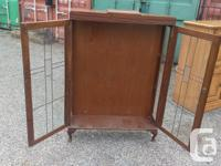 Old piece, Small Antique China Cabinet Only has 1