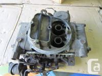 Small block Chevrolet intake $120.   Holley 600 cfm
