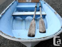 My cute dinghy fiberglass boat is on sale! Very nice