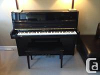 """Upright 44"""" Youthful Chang E-series piano with bench"""