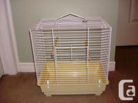 I have a small bird cage available, in good condition.