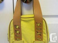A small Miss Sixty yellow handbag with fake leather