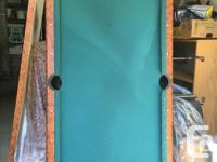 Small pool table & Air hockey table. Decent condition,