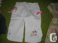 Mini-Pink - White Cotton Summer Trousers - 2T - NWOT