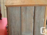 Small Rustic Cupboard with Live Edge Fir Top..Interior