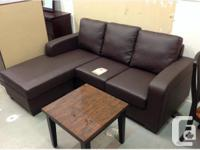 Brand new small sectional with reversible